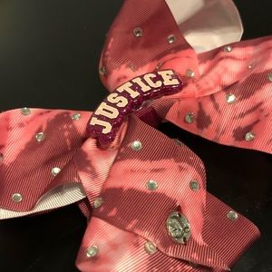 JoJo Siwa Justice Pink Tie Dye Bow